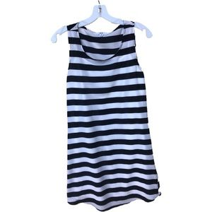 Black/White Striped Sleeveless Dress Size Med